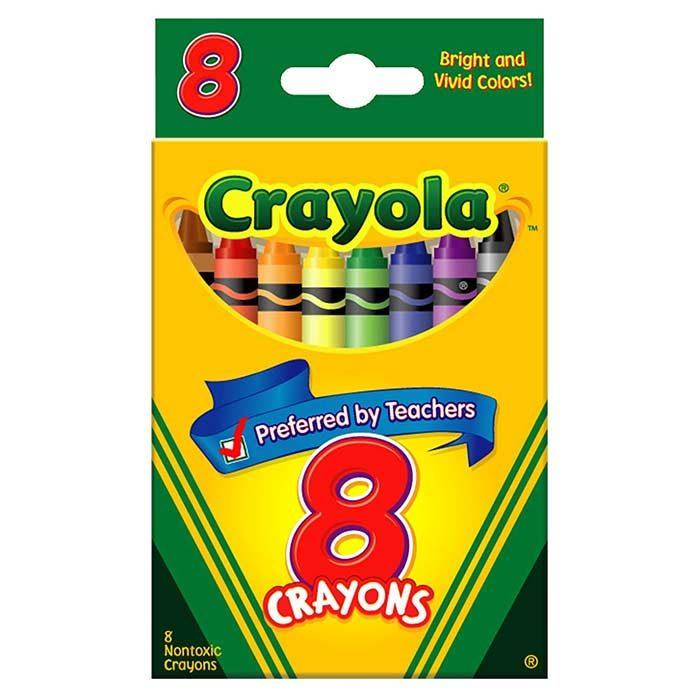 مداد شمعی 8 رنگ