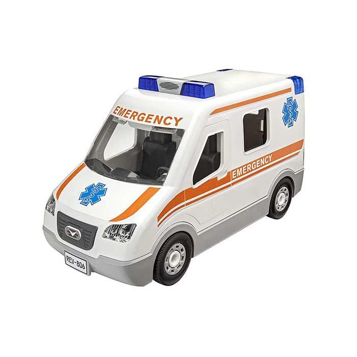ماشین اسباب بازی آمبولانس برند Revellو مدل Ambulance مناسب کودکان سنیناز 4 تا 7 سال و از دسته اسباب بازی هایموزیکال و سرگرمی می باشد.