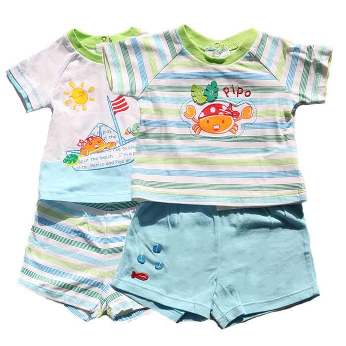 ست تی شرت و شلوارک نوزاد